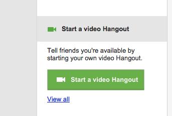 Start a Video Hangout