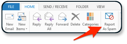 Reporting as Spam in Outlook