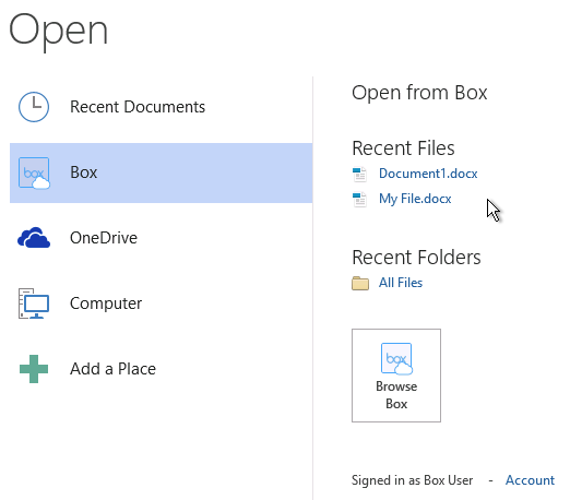 Open File from Box in Office