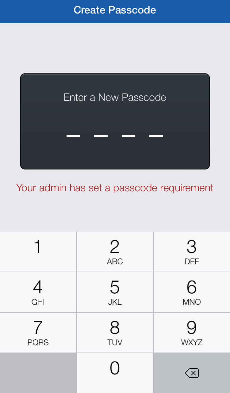 Mobile Passcode