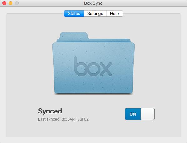 Box Sync Status