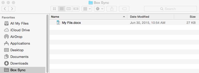 Box Sync Folder