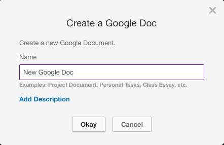 Name the Google Doc