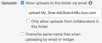 Allow Uploads via Email