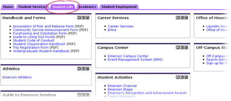 Student Life Tab in eCommon