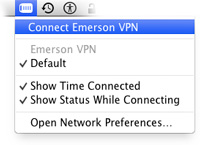 Connecting to the Emerson VPN