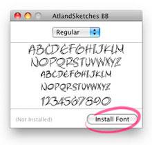 Mac OS X Font Book