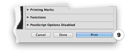 Photoshop dialog print button for greyscale photo